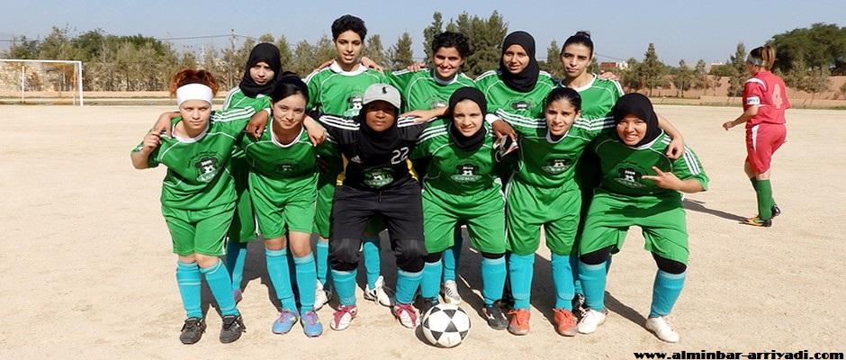 فريق الجيل الجديد التمسية لكرة القدم النسائية 28-12-2014