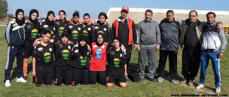 فريق امال شباب هوارة لكرة القدم النسائية 01-02-2015
