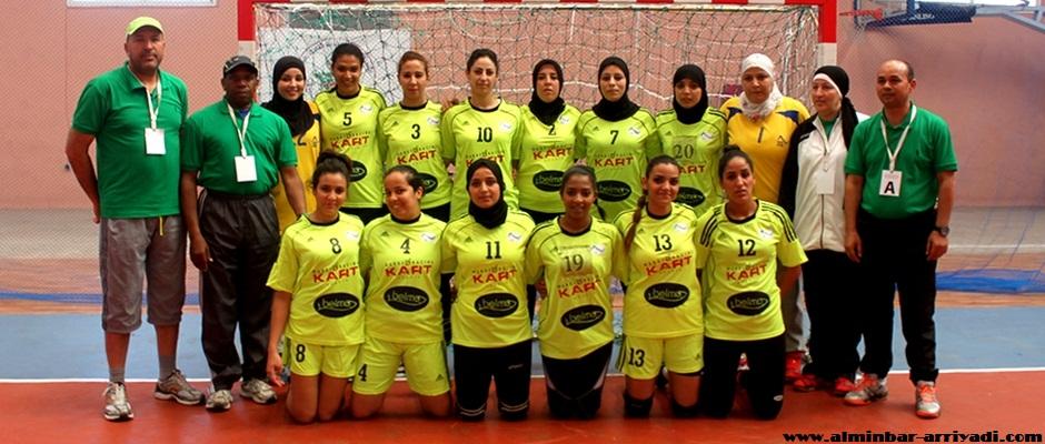 فريق رجاء أكادير النسائي لكرة اليد 28-03-2015
