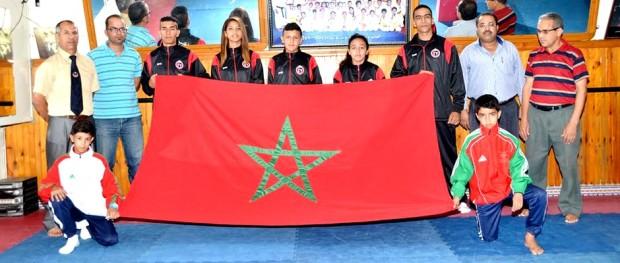 ابطال اولمبيك الدشيرة للكراطي المشاركون في بطولة العالم بتركيا