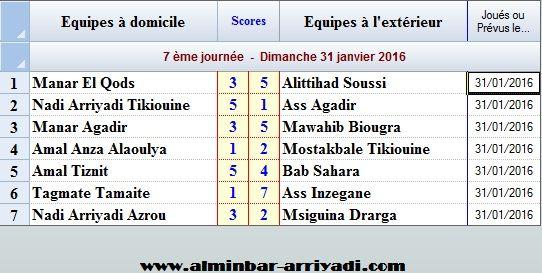 Ligue Sous Futsal 3eme Division 2015-2016_j7