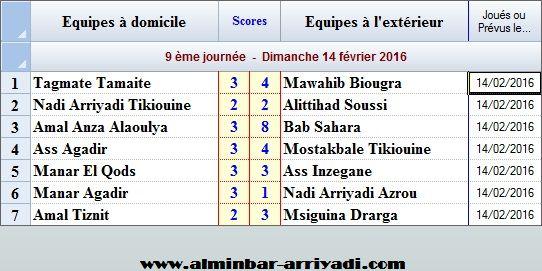 Ligue Sous Futsal 3eme Division 2015-2016_j9