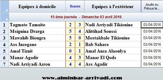 Ligue Sous Futsal 3eme Division 2015-2016_j15