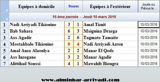 Ligue Sous Futsal 3eme Division 2015-2016_j16