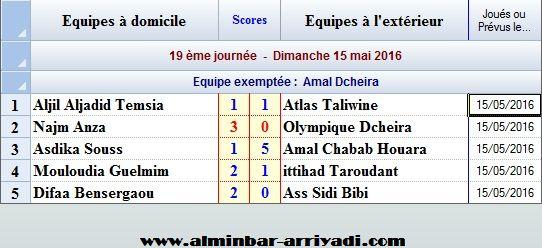 Football Championnat Feminin Ligue Souss 2015-2016 _j19