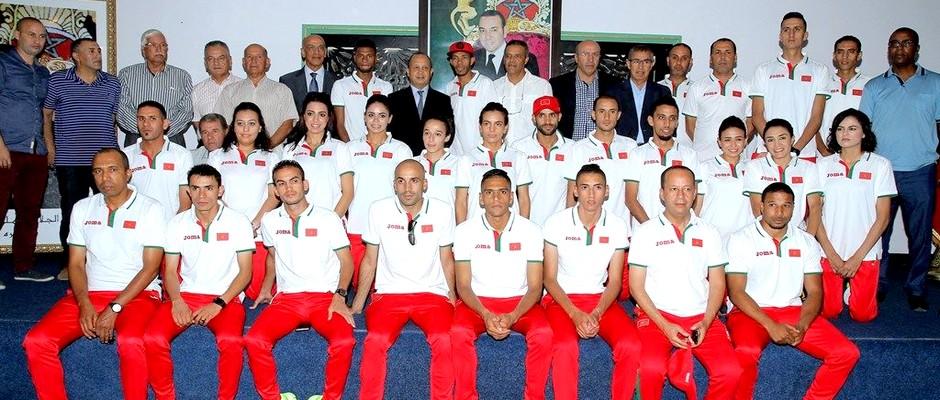 فريق ألعاب القوى المغربي المشار في الالعاب الاولمبية بالبرازيل 2016