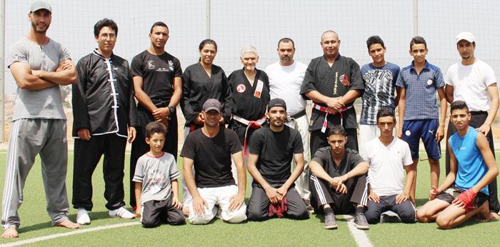 تدريب الأمن الخاص - جمعية نادي أسود الأطلس لرياضة النانبودو و الكراطي والفنون الدفاعية، سلا (2)